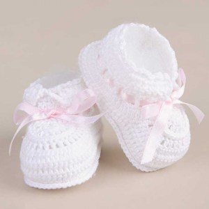 Ribbon Crochet Booties