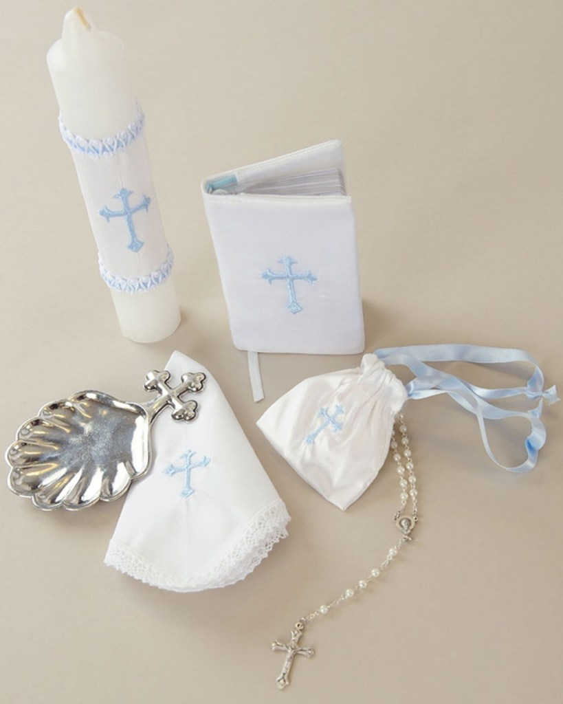 Boy Christening Accessory Set