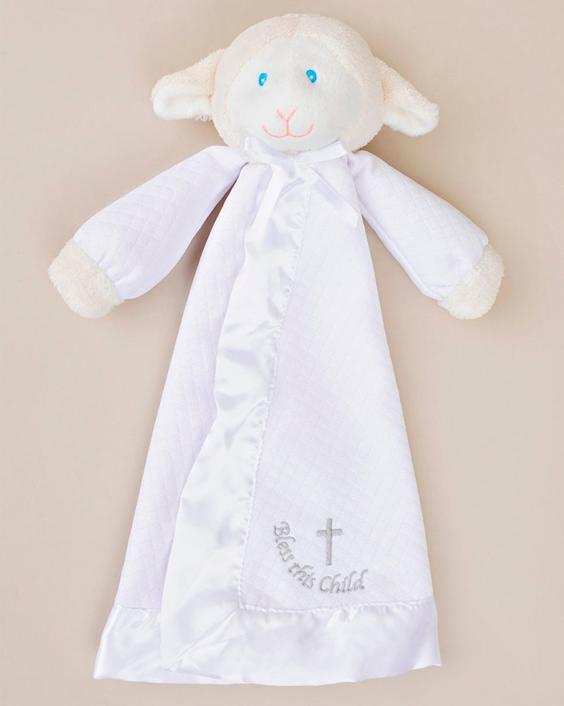 Bless This Child' Lamb Cuddle Blankie