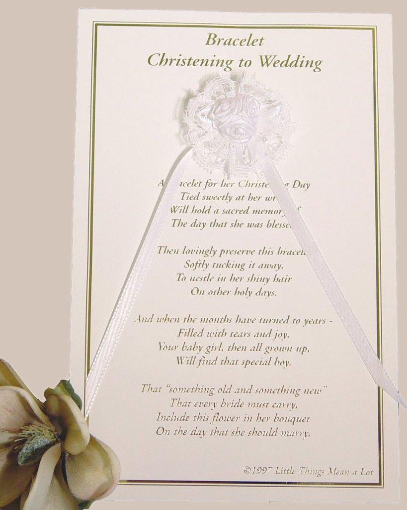 Girls Christening to Wedding Bracelet