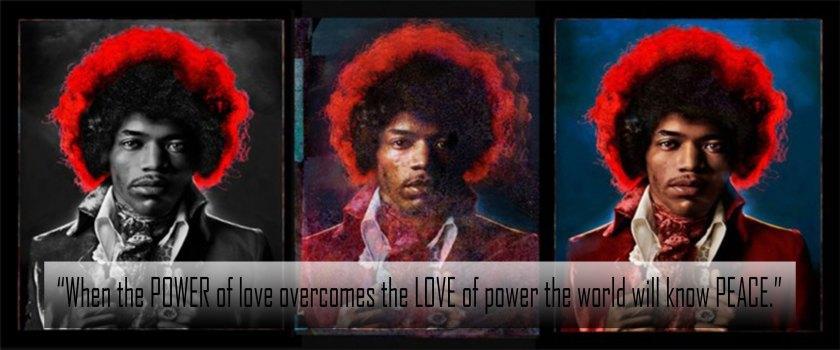 Jimi Hendrix Triptych by Mike Berkofsky