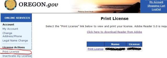 orea print license