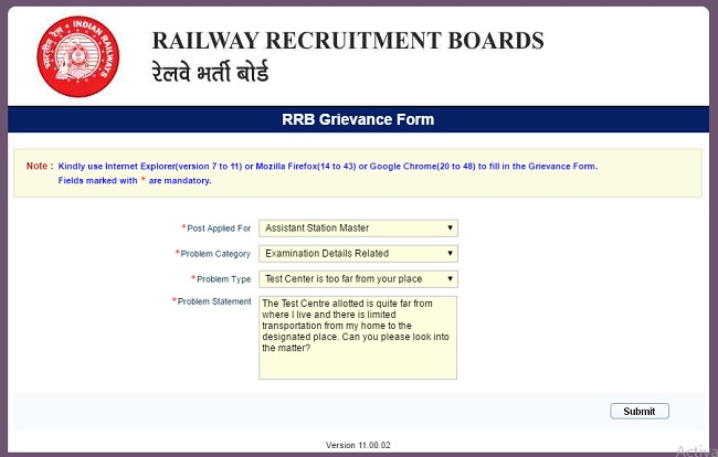 Change-Exam-Centre-RRB-NTPC-Step-6