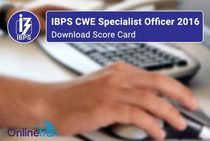 IBPS-CWE-Specialist-Officer-2016-Download-Score-Card