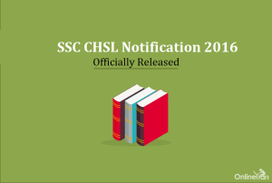 SSC CHSL 2016 Notification
