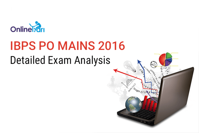 IBPS PO Mains Exam Analysis, Expected Cut off 2016