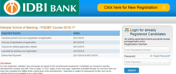 IDBI Apply Online