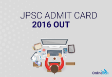 6th JPSC Prelims Admit Card 2016: Download Here