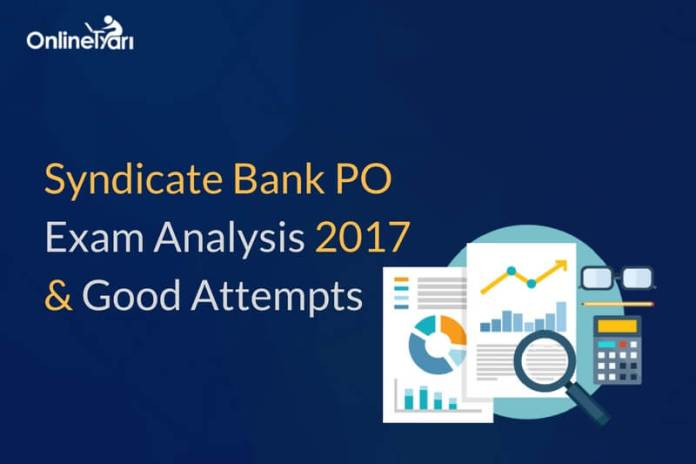 Syndicate Bank PO Exam Analysis, Good Number of Attempts