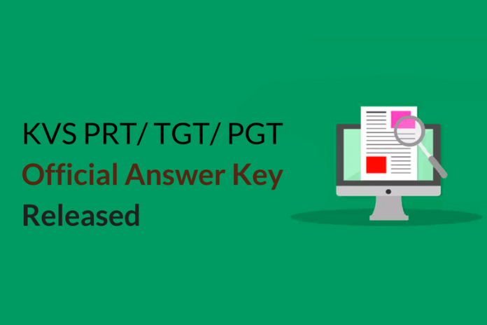KVS PRT/ TGT/ PGT Official Answer Key 2017