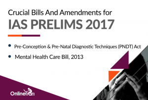 Crucial Bills And Amendments for IAS Prelims 2017: PNDT Act, Mental Health Care Bill, 2013