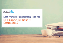 Last Minute Preparation Tips for RBI Grade B Phase 2 Exam 2017