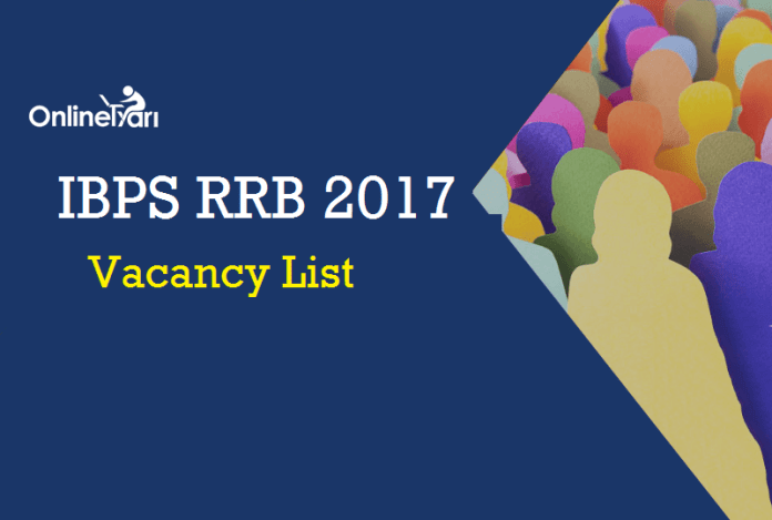 IBPS RRB 2017 Vacancy List