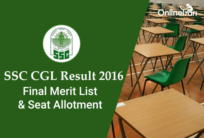 SSC CGL Result 2016: Merit List & Final Seat Allotment
