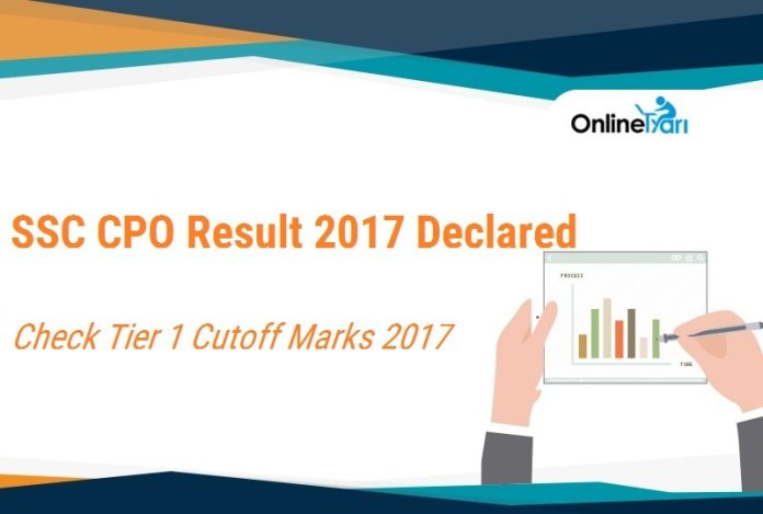 SSC CPO Result 2017 | Paper 1 Cutoff Marks for Male & Female Candidates