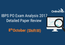 IBPS PO Prelims 2017 Exam Analysis: 8 October (Shift 3)