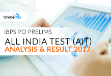 IBPS PO Prelims All India Test (AIT) Analysis & Result 2017