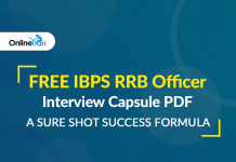 FREE IBPS RRB Officer Interview Capsule PDF: A Sure Shot Success Formula
