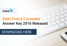 SSC Delhi Police Answer Key 2016 Released: Match Your Answers
