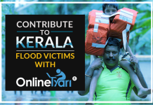 Contribute to Kerala Flood Victims with OnlineTyari