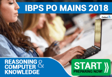 IBPS PO Mains Reasoning & Computer Knowledge 2018: Start Preparing Now!