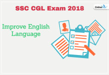 Improve English Language For SSC CGL 2018 Exam