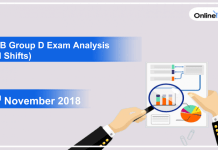 RRB Group D Exam Analysis 2018 (All Shift): 2nd November
