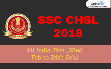 SSC CHSL Tier 1 All India Test (AIT) | 22-25 February 2019
