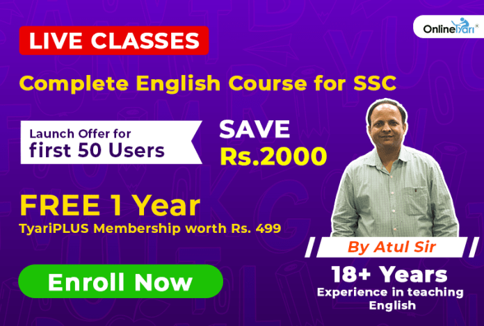 Online English Course for SSC Examination 2019: Join Now