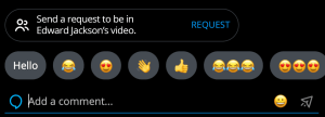 Request to be in live video