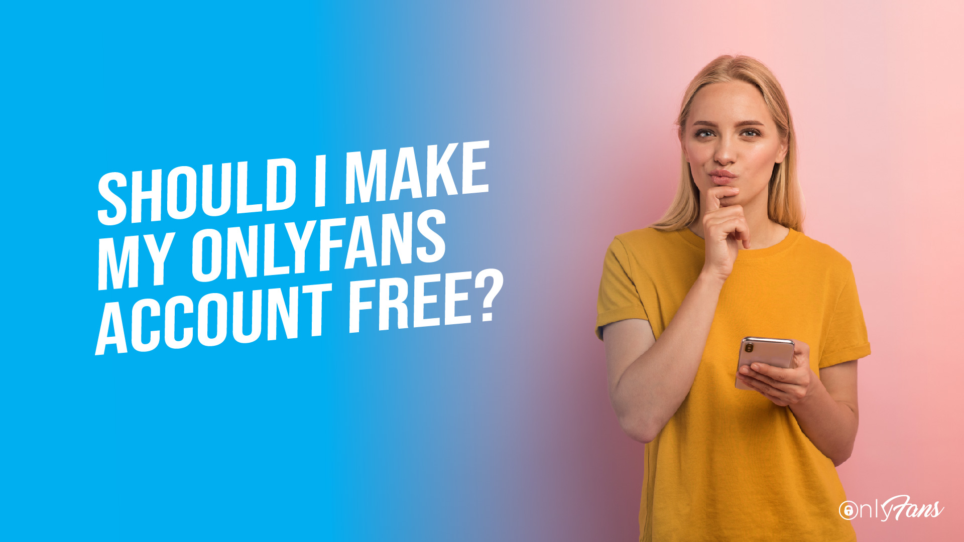 Should I make my OnlyFans account free?
