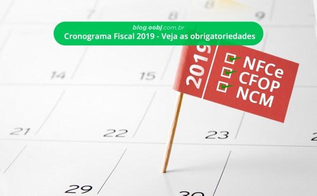 cronograma fiscal 2019