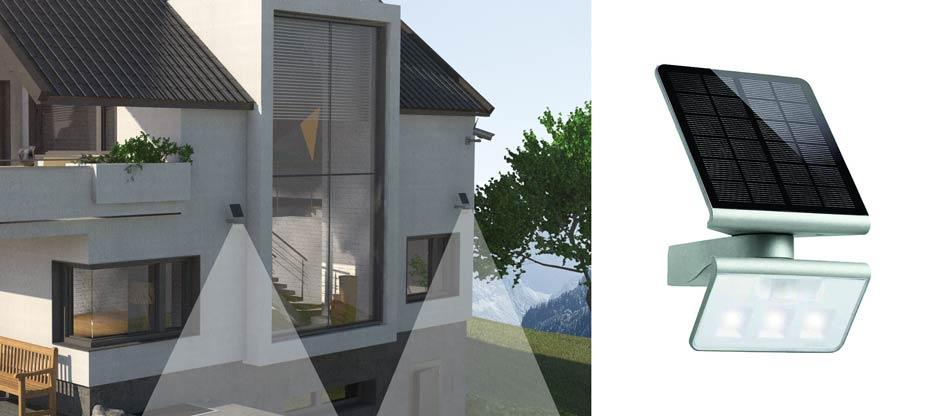 Abschreckende Wirkung – LED Solar Strahler Xsolar L-S