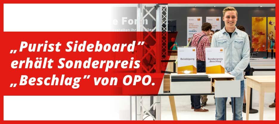 «Purist Sideboard» erhält Sonderpreis «Beschlag» von OPO