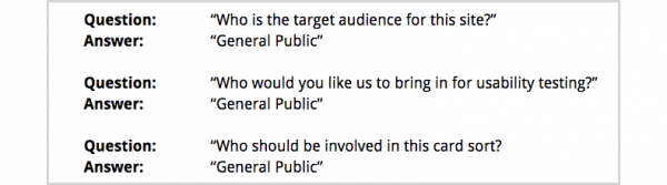 When we ask people who their audience is, they so often say the general public.