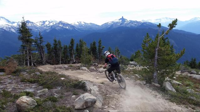Matt making his evening commute from his remote work space in Whistler