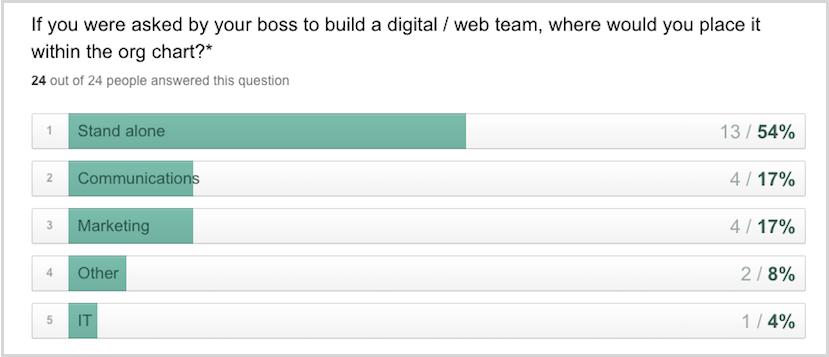 digital team survey results