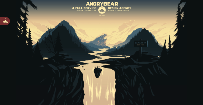 The Angry Bear website homepage.