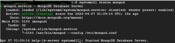 UPchieve requires MongoDB service to run properly