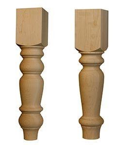 Jumbo English Country Coffee Table Leg and Husky Dining Table Leg