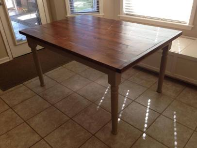 Traditional Farm Dining Table Leg and Husky Dining Table Leg