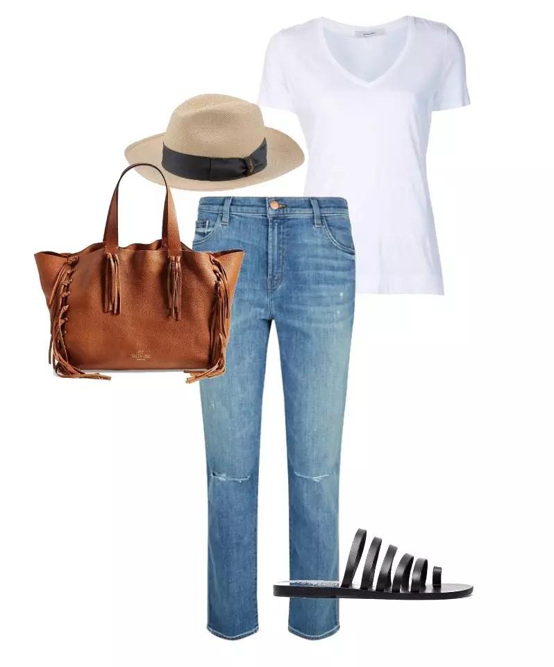 combinacao jeans com rasteirinha