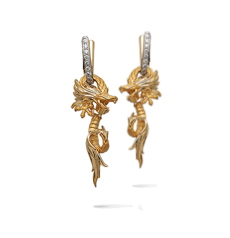 Carrera y Carrera Círculos de Fuego Earrings