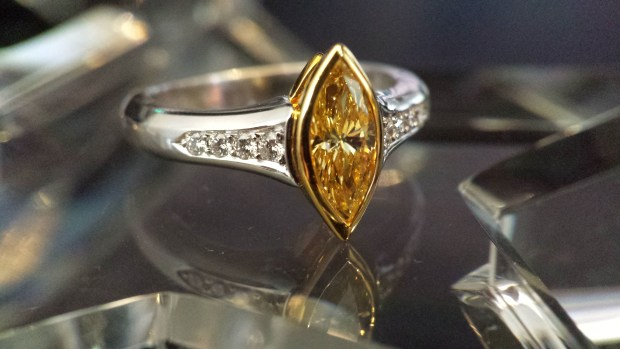 Louis Glick Marquise Yellow Diamond Ring | Oster Jewelers Blog