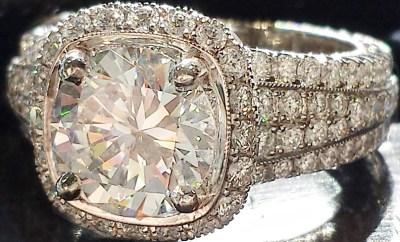 Jack Kelege Pave Semi Mount Diamond Ring #mybridalstyle #mydiamondstyle