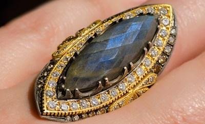 Suneera Labradorite Empress Ring With 1.46ctw Diamonds | Oster Jewelers