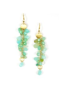 Samantha Louise 18K Gold, Blue Opal & Chrysoprase Dangle Earrings | Oster Jewelers Blog