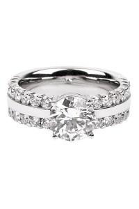 Furrer Jacot Lucienne Diamond 2 Row Platinum Semi-Mount Ring | Oster Jewelers Blog