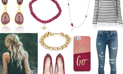 Style Trend: Ripped Jeans & Rubies