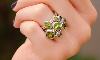 Janice Girardi Green Stone Stack Rings | Oster Jewelers Blog